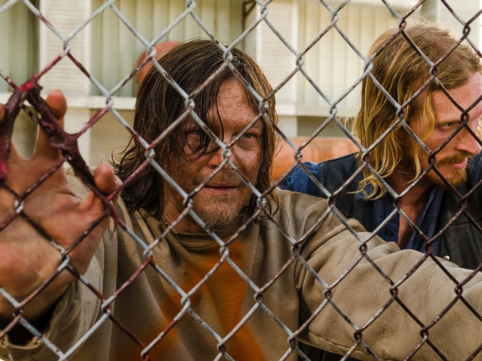 PHOTO: Norman Reedus is seen here as Daryl Dixon and Austin Amelio as Dwight in The Walking Dead.