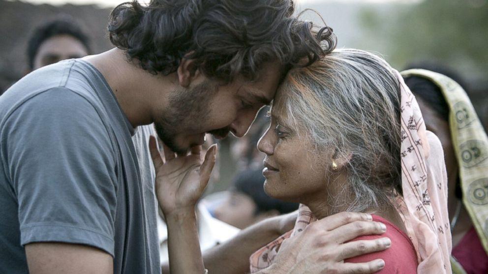"Dev Patel, left, and Priyanka Bose in a scene from ""Lion."""