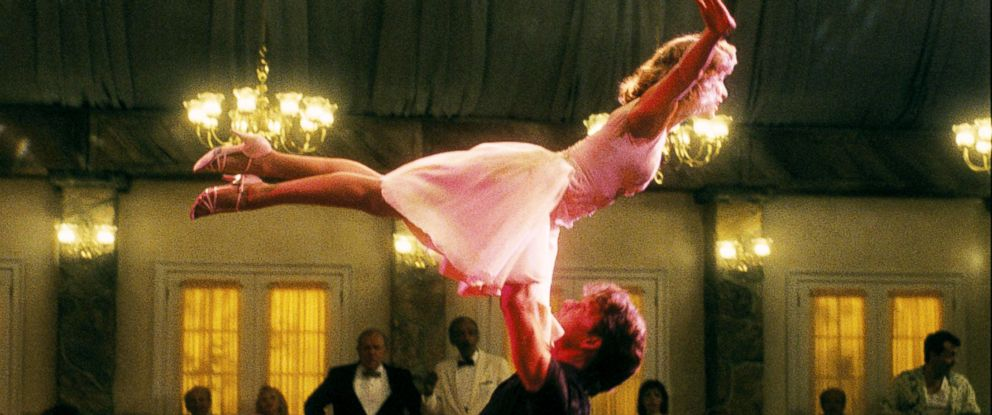 """PHOTO: Jennifer Grey, as Baby Houseman, and Patrick Swayze, as Johnny Castle, appear in a scene from """"Dirty Dancing."""""""