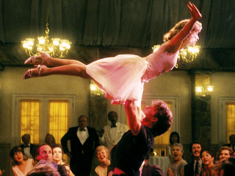 PHOTO: Jennifer Grey, as Baby Houseman, and Patrick Swayze, as Johnny Castle, appear in a scene from Dirty Dancing.