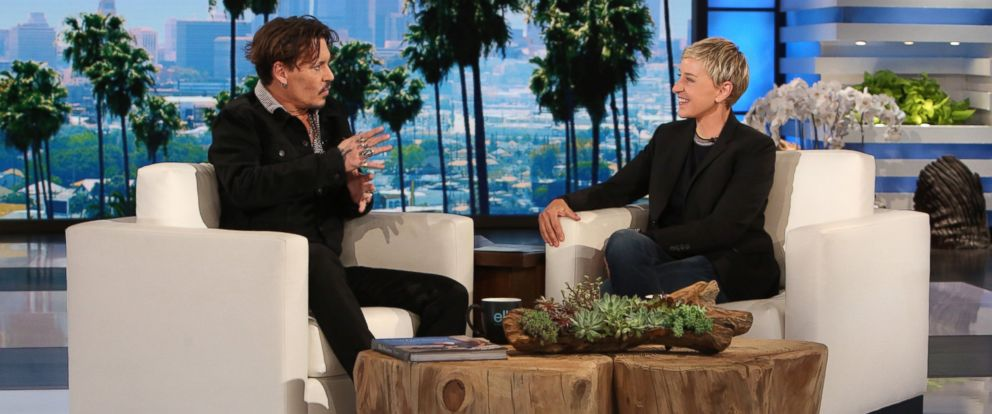 "PHOTO: Johnny Depp appears on ""The Ellen DeGeneres Show,"" in Burbank, Calif."