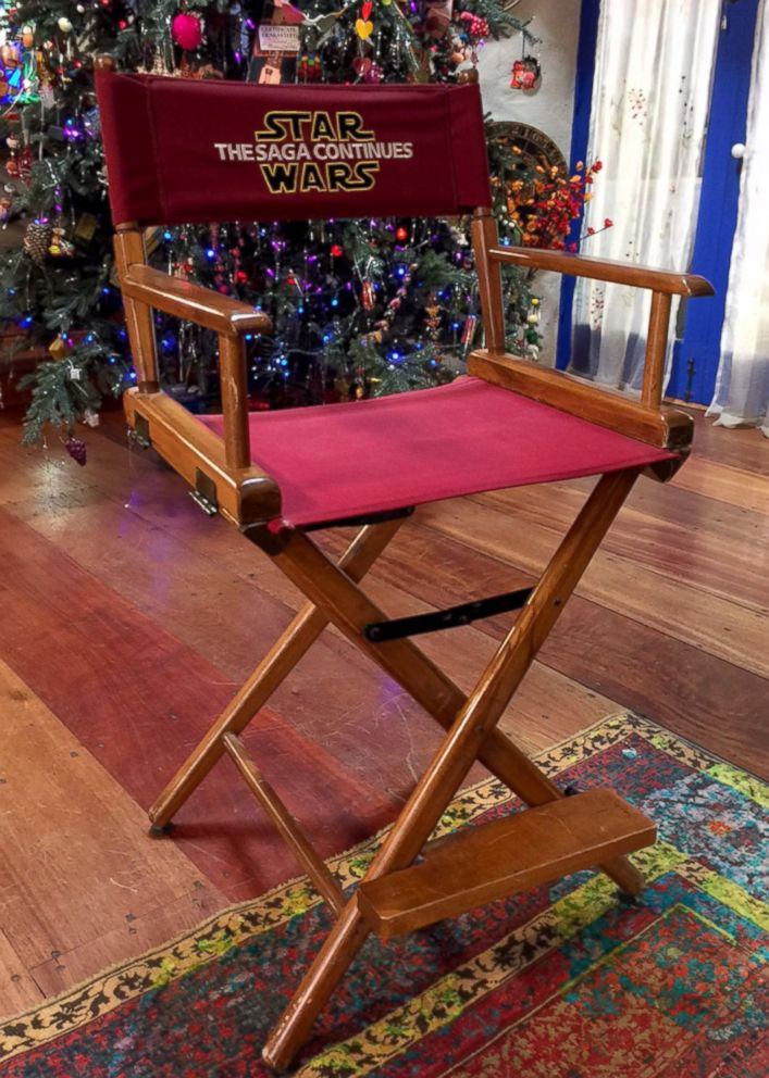 """PHOTO: Carrie Fisher's director's chair that she used on the set of """"Return of the Jedi."""""""