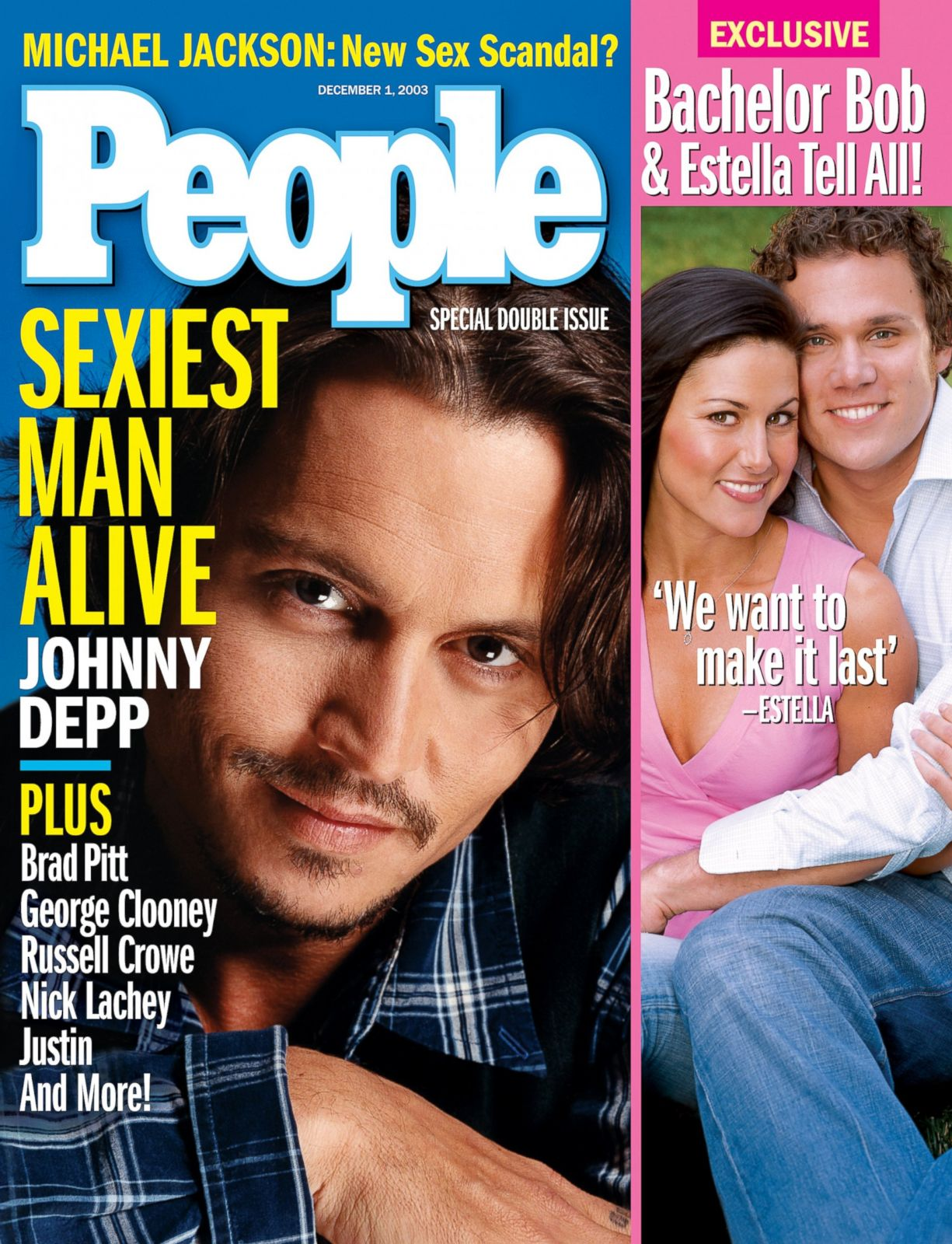 sexiest alive magazine cover 2003 depp johnny magazines years through covers entertainment abc