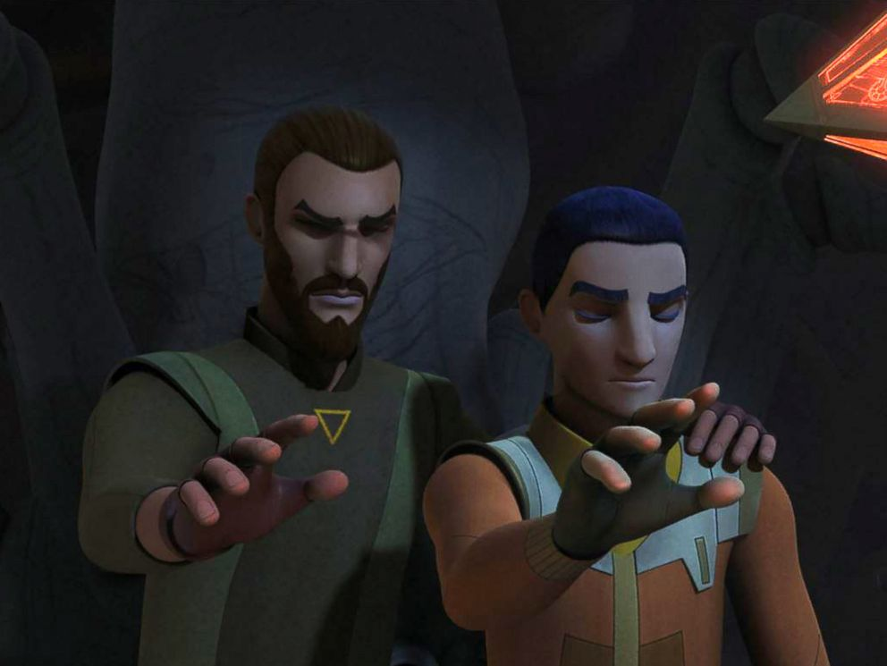 PHOTO: Kanan Jarrus, left, and Ezra Bridger are pictured in Season 4 premiere of Star Wars Rebels (2017).