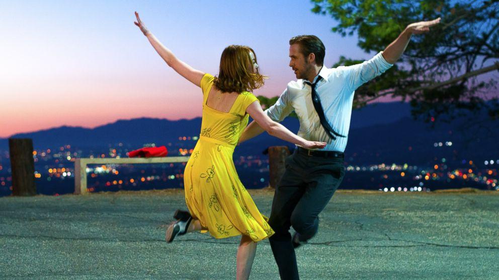 Ryan Gosling and Emma Stone are seen here in La La Land.