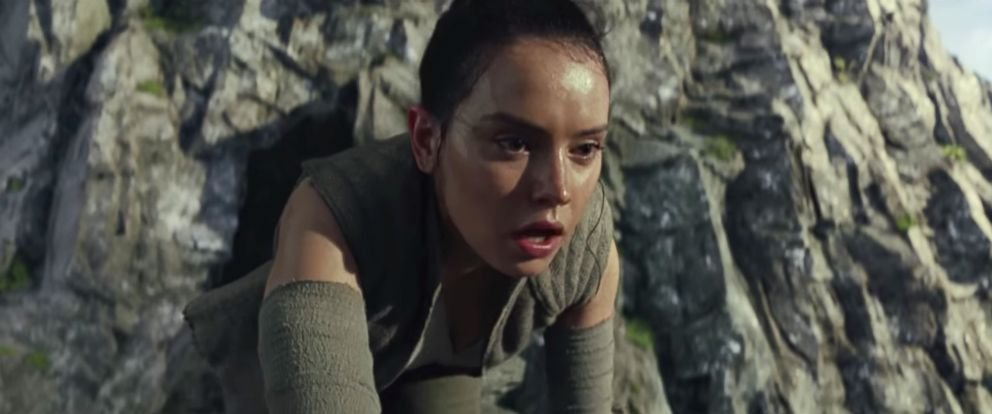 "PHOTO: Daisy Ridley, as Rey, in a scene from ""Star Wars: The Last Jedi."""
