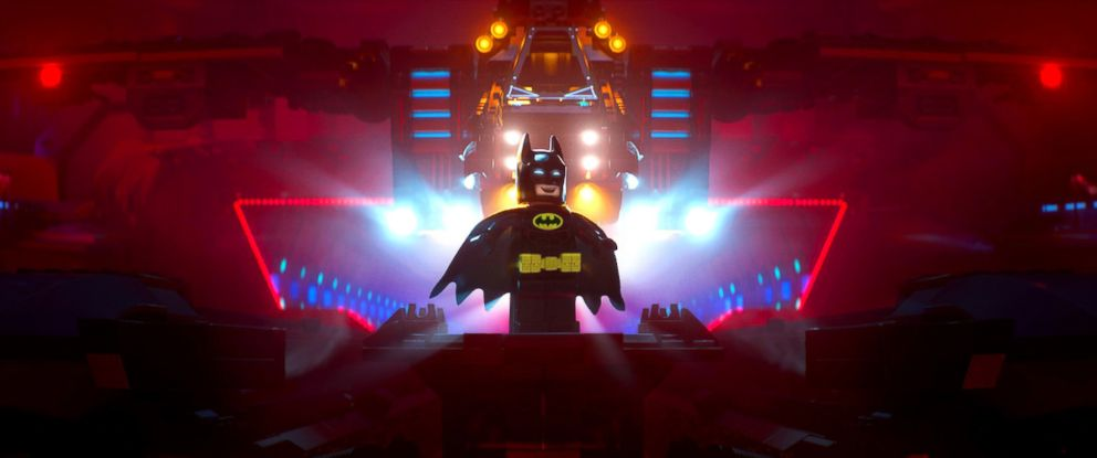 "PHOTO: Batman, voiced by Will Arnett, in a scene from the ""LEGO Batman Movie."""