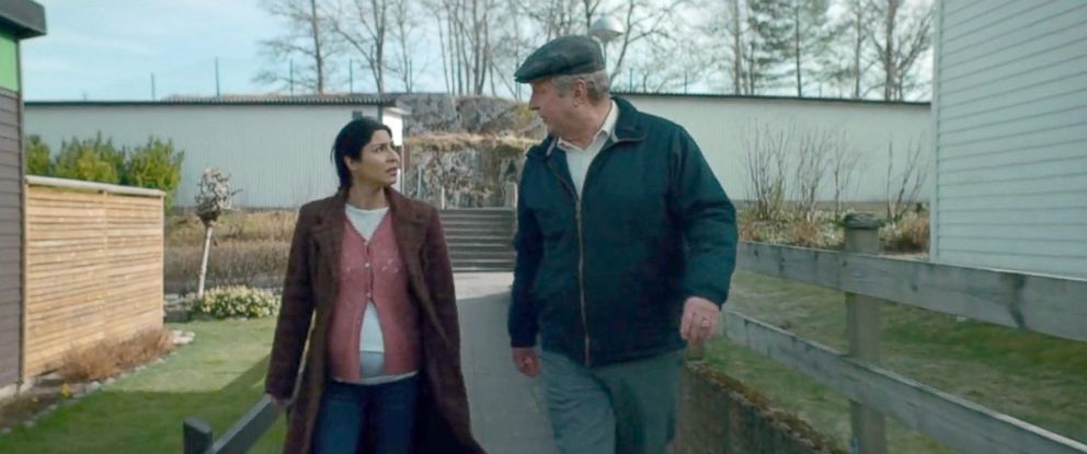 "PHOTO: Bahar Pars, left, as Parvaneh, and Rolf Lassgard, as Ove, in a scene from ""A Man Called Ove."""
