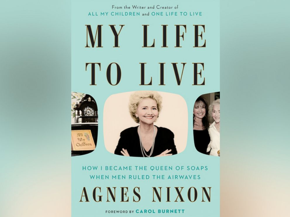 PHOTO: The cover of My Life to Live by Agnes Nixon is seen here.