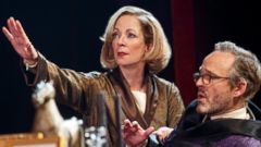 PHOTO: Allison Janney and John Benjamin Hickey in Six Degrees of Separation on Broadway.