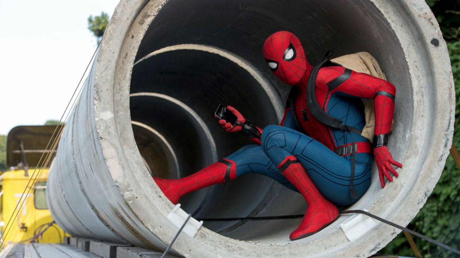 Spider Man Homecoming How Tom Holland Created A Truly Standout Spray Spiderman Sport Web Slinger Abc News