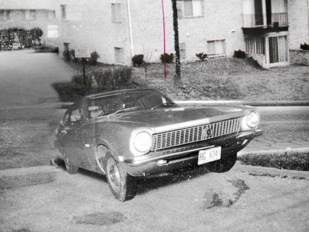 PHOTO: An image of Sister Cathy Cesniks car found near her apartment the night she went missing Nov. 7, 1969 in Baltimore County.