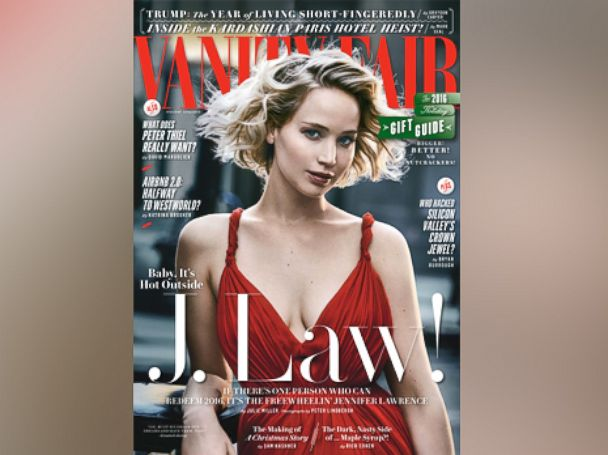 PHOTO: Jennifer Lawrence appears on the cover of the Holiday issue of Vanity Fair.