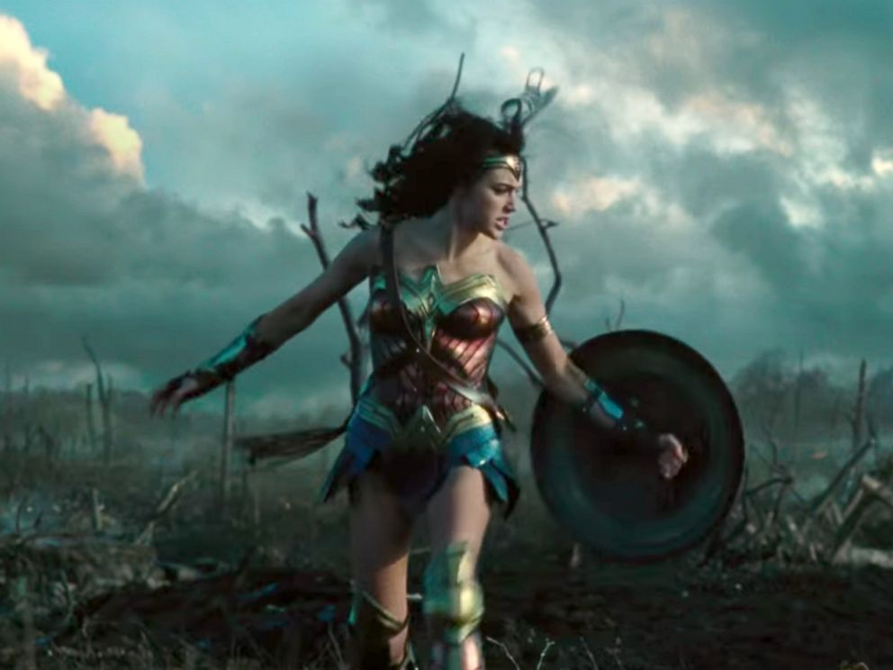 PHOTO: Gal Gadot as Wonder Woman in a scene from the first theatrical trailer for Wonder Woman.
