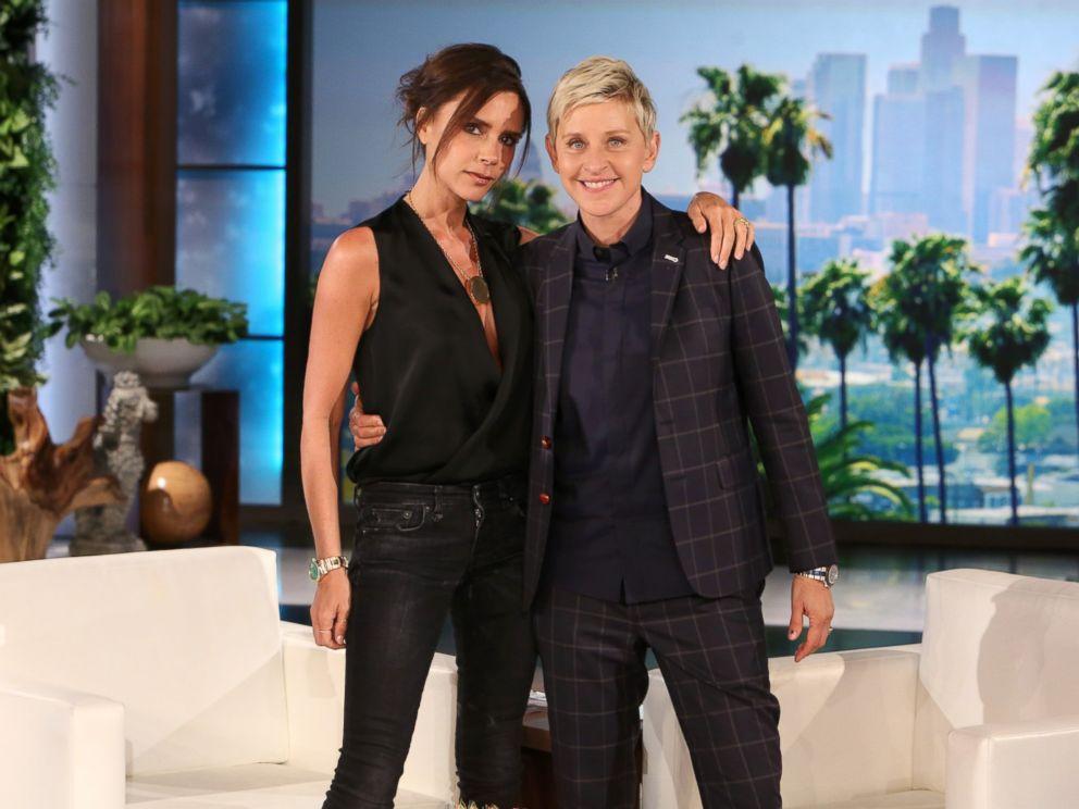 PHOTO: Victoria Beckham appears on The Ellen DeGeneres Show, April 24 2015.