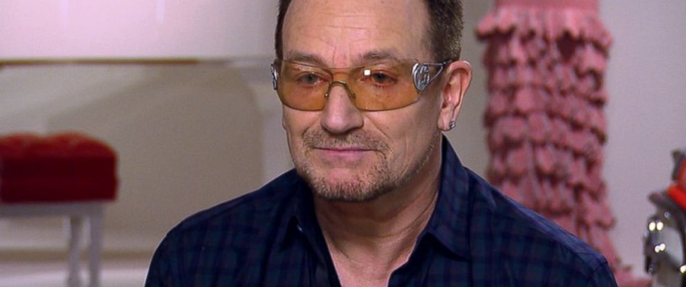 "U2 lead singer Bono appears on ABCs ""This Week"" in December 2013."