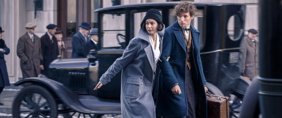"""PHOTO: In this undated photo, Katherine Waterson as Tina and Eddie Redmayne as Newt Scamander in Warner Bros. Pictures fantasy adventure """"FANTASTIC BEASTS AND WHERE TO FIND THEM,"""" a Warner Bros. Pictures release."""