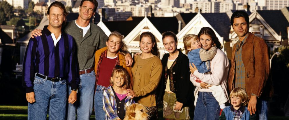 PHOTO: The cast of ABCs Full House on location in San Francisco, Calif., Sept. 1994.