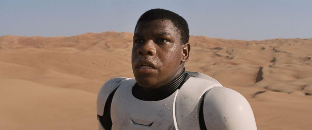 """PHOTO: John Boyega as Finn in a scene from """"Star Wars: The Force Awakens."""""""
