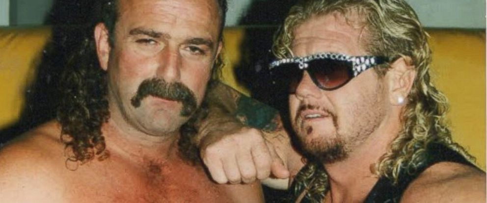 """PHOTO: Jake """"the snake"""" Roberts and Diamond Dallas Page are seen in this 1993 file photo."""
