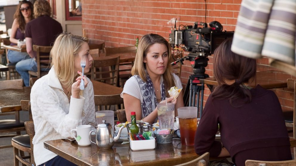 """The Hills"" stars Lauren Conrad, Whitney Port and Audrina Patridge film in Los Angeles, Feb. 21, 2007."