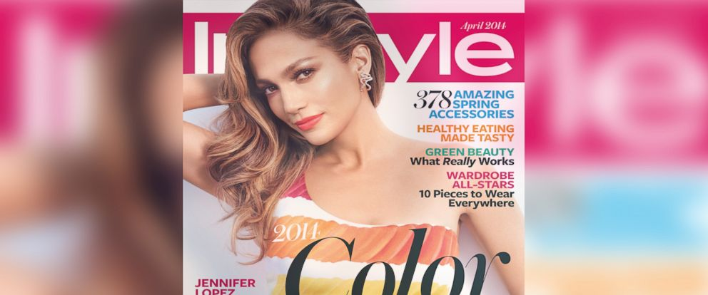 PHOTO: Jennifer Lopez appears on the cover of the April 2014 issue of InStyle.
