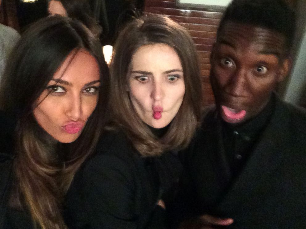 PHOTO: After a long night, funny face selfie with my best friend, Anca Tiribeja and my co-star, Nathan Stewart-Jarrett!