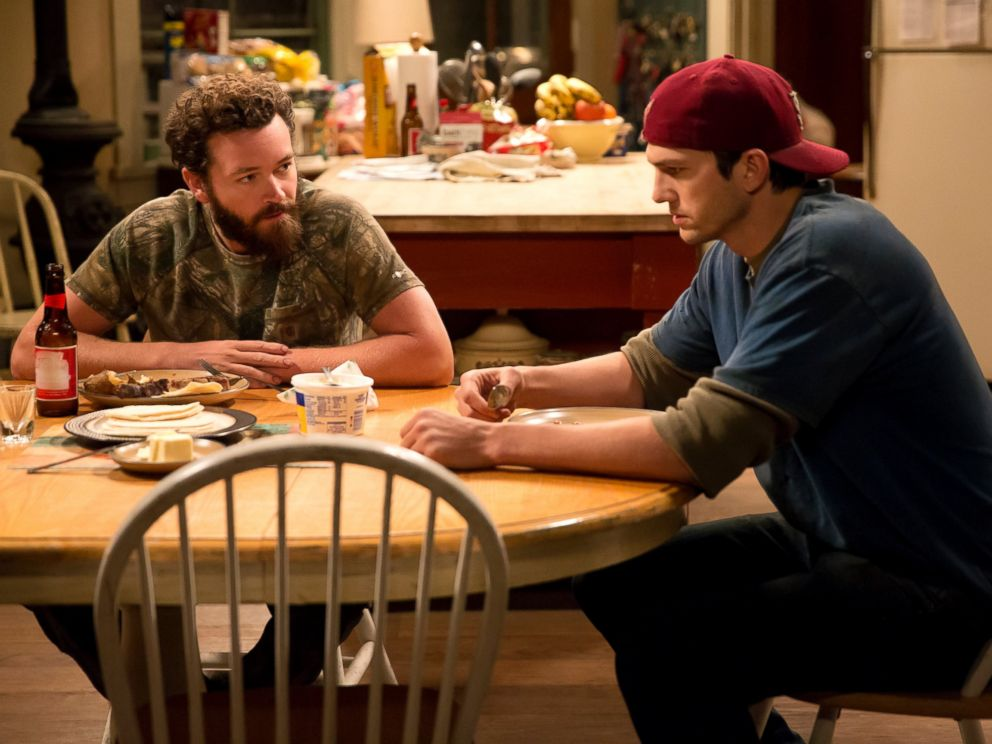 PHOTO: Danny Masterson and Ashton Kutcher in a scene from The Ranch.