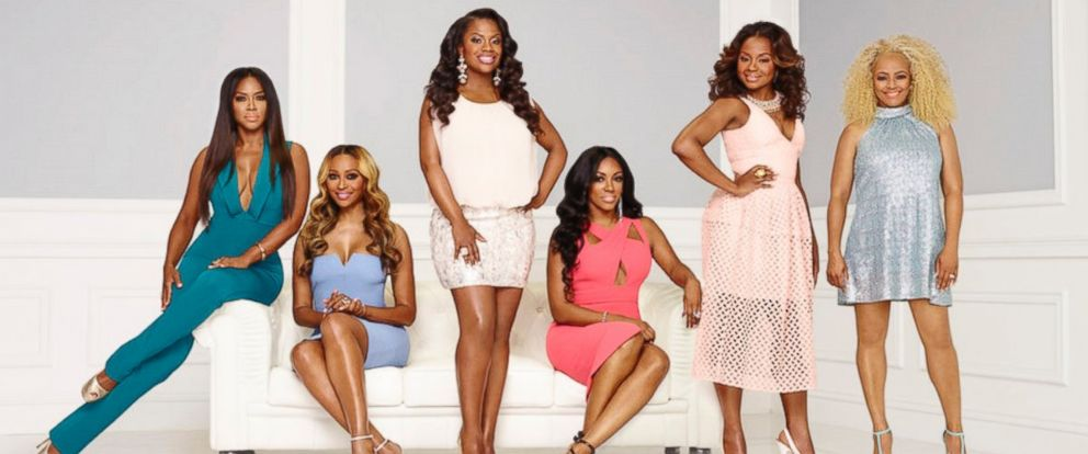 PHOTO: The cast of Real Housewives of Atlanta season 8 with feature, Tammy McCall, Kenya Moore, Cynthia Bailey, Kandi Burruss, Porsha Williams, Phaedra Parks Nida, and Kim Fields.