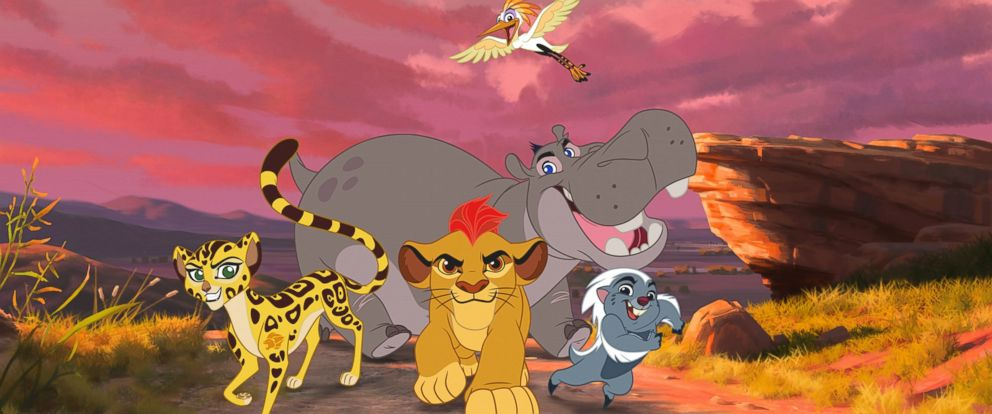 """PHOTO: An undated image still of Disneys """"The Lion King"""" continues with """"The Lion Guard: Return of the Roar,"""" a primetime television movie event starring Rob Lowe, Gabrielle Union and James Earl Jones, reprising his iconic role as Mufasa."""
