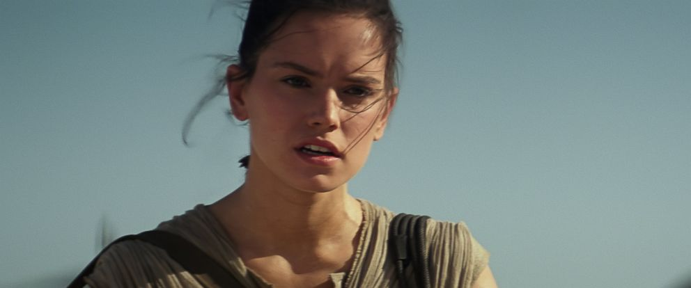 "PHOTO:Daisy Ridley as Rey in ""Star Wars: The Force Awakens."""