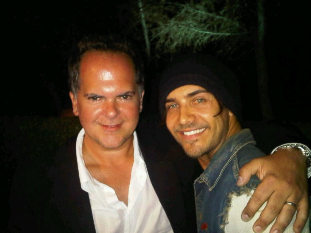 PHOTO: The Hills Executive Producer Tony DiSanto hugs Justin Bobby Brescia, who starred on the series in 2007-2010.