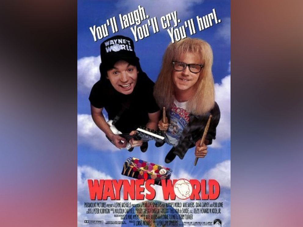 PHOTO: Movie poster for Waynes World, 1992.