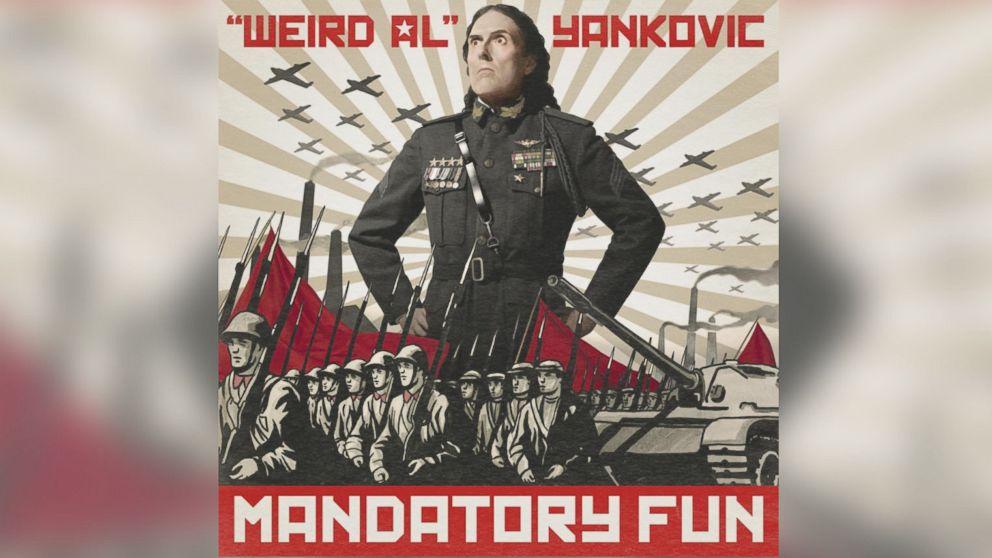 """Weird Al"" Yankovic's album cover, Mandatory Fun."