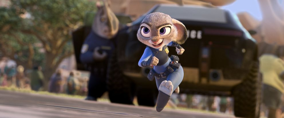 """PHOTO: In Disneys new film """"Zootopia,"""" Judy Hopps, voiced by Ginnifer Goodwin, believes anyone can be anything. Being the first bunny on a police force of big, tough animals isnt easy, but Hopps is determined to prove herself."""