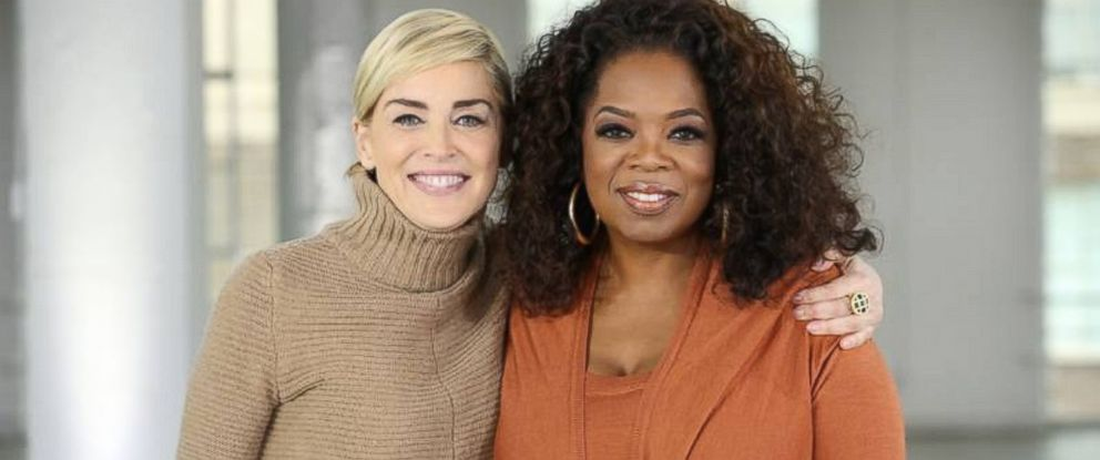 PHOTO: Oprah Winfrey with Sharon Stone.