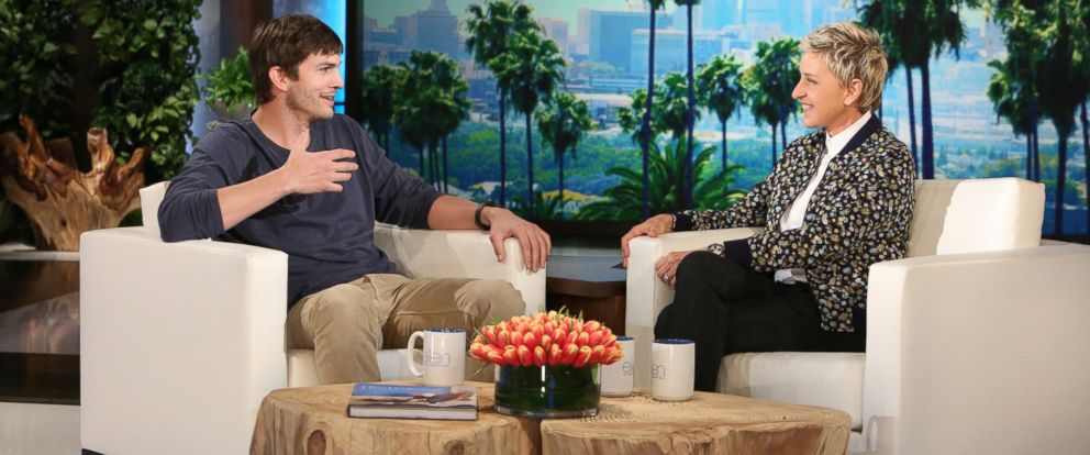 "PHOTO: Ashton Kutcher appears on ""The Ellen DeGeneres Show,"" March 2, 2016."