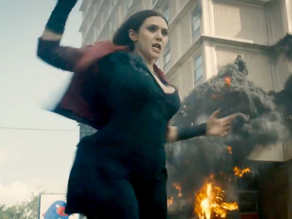 PHOTO: Elizabeth Olsen as Scarlet Witch in a scene from Avengers: Age of Ultron.