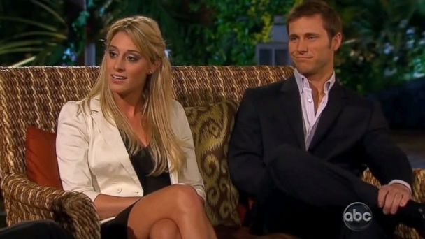 PHOTO: Jake Pavelka and Vienna Girardi confront each other on The Bachelorette, July 5, 2010.