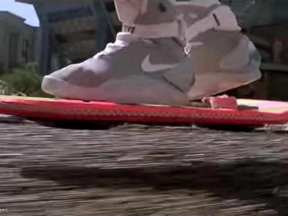 best service c9d32 94f9d PHOTO  Michael J. Fox as Marty McFly rides a hoverboard in Back to the