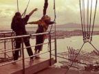 PHOTO: Beyonce prepares to a dive during her bungee jumping trip, in a photo she posted to her Instagram, in New Zealand, Oct. 19, 2013.