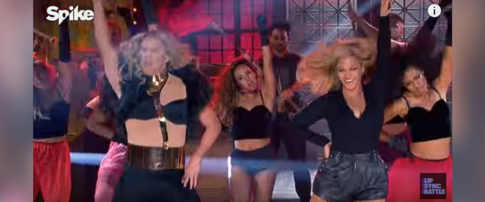 PHOTO: Channing Tatum and Beyonce are seen in a still Lip Sync Battle.