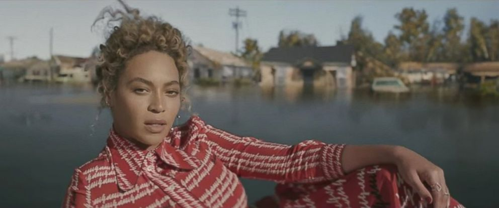 "PHOTO: Beyonce is pictured in a still from her new music video ""Formation."""