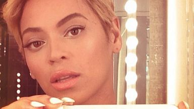 PHOTO: Beyonce posted this image showing a new short haircut on Instagram, Aug 7, 2013.
