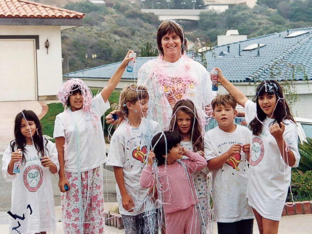 PHOTO: Bruce Jenner is shown here with seven of his 10 children in this undated family photo.
