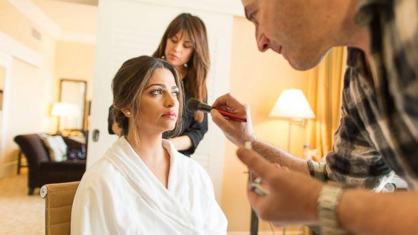PHOTO: Camila Alves preps for Oscars at the Shore Hotel in Santa Monica, Calif.