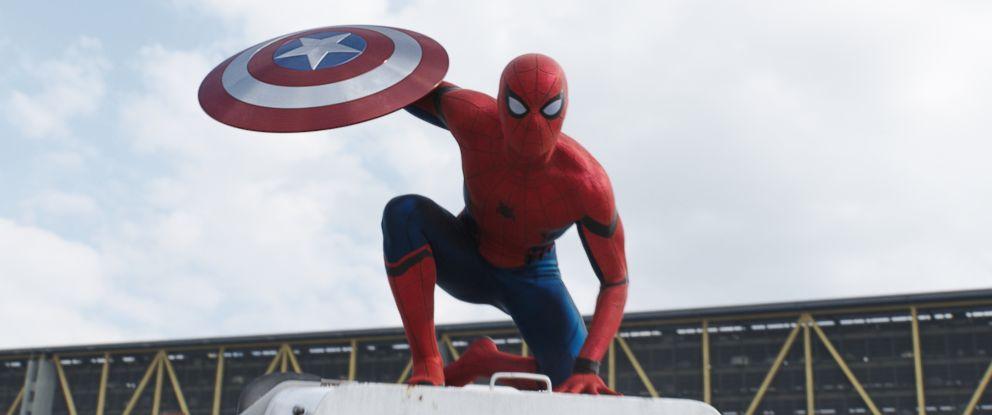 "PHOTO: Tom Holland as Spider-Man in ""Captain America: Civil War."""