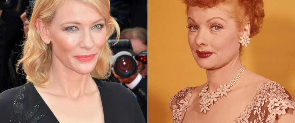 PHOTO: Cate Blanchett in Cannes, France, May 19, 2015. | Lucille Ball pictured circa 1955.
