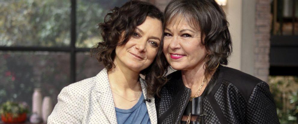 "PHOTO: Roseanne Barr and Sara Gilbert on ""The Talk,"" Aug, 5, 2014."