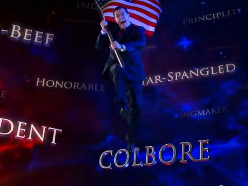 PHOTO: A screengrab from an episode of The Colbert Report posted to Comedy Central is seen.